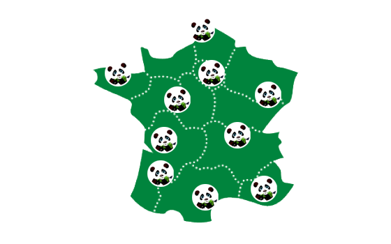 Carte France Les débarras du Panda